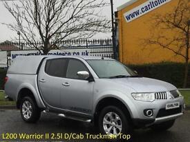2013 (13) Mitsubishi L200 Warrior II 2.5l D/Cab Truckman Top Pickup 4wd