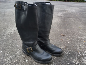 Classic Women's Frye black leather boots, Veronica Slouch (Colli