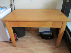***PRICE DROP*** Oak Table with big deep drawer