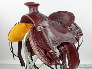 "17"" Western Saddle Wade Roping Pleasure Trail Ranch New London Ontario image 7"