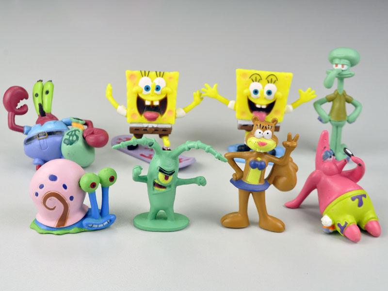 Spongebob Patrick Star und Co die Charaktere der beliebten Kinderserie als Sammelfiguren