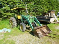 John Deere Diesel Tractor with attachments