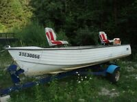 16 foot aluminum boat with fishing seats for sale