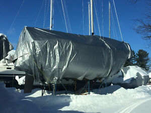 Sailboat Winter Cover c/w Frame