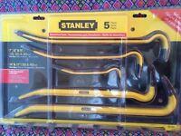 New never opened Stanley 5 piece demolition tool set