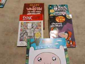 Wimpy kid, Adventure time and more books
