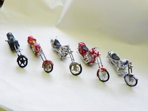 Set of 8 Model Motorcycles