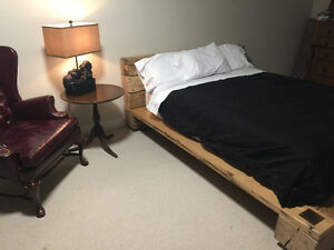 Custom Q Bed Frame - crafted with reclaimed barn material