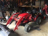 Compact tractor services