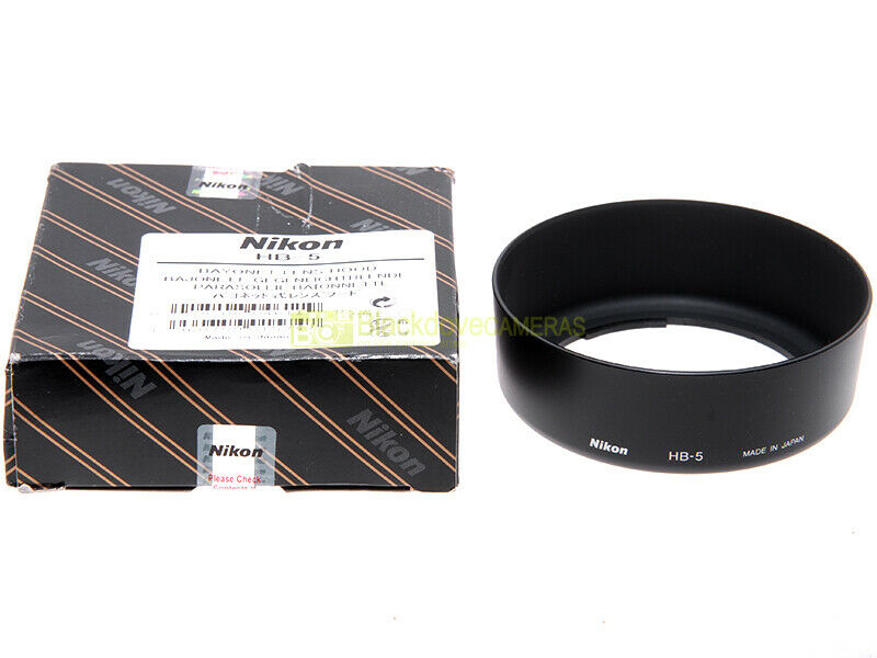 Nikon paraluce HB-5 per obiettivo zoom Nikkor 35/105mm. ORIGINALE. HB5 lens hood