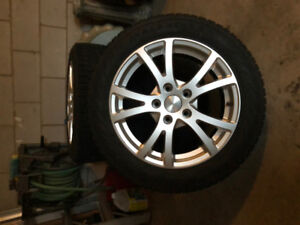 205/55R16 Winter Tires & Rims. Like New!!