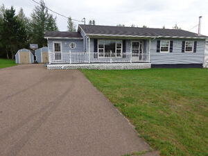VERY large bungalow, private and fenced yard in Dieppe!