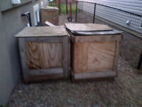 SOLID &STRONG WOODEN BOXES- 4 nos