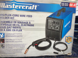 MIG/FLUX-CORE WIRE FEED WELDER KIT 80A NEW IN BOX