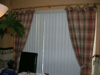 Tab-Top Classic Stripe Cotton Curtain Panels