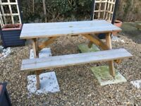 Wooden Picnic Bench Garden Table wood