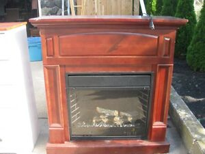 FREESTANDING FIREPLACE ELECTRIC WOOD FRAME $200