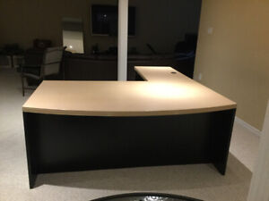 Large L-shaped executive office desk for sale