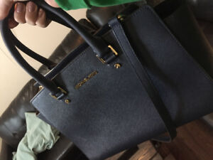 Michael Kors navy satchel