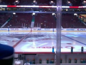 Excellent Seats at Centre Ice Behind Visitors' Box