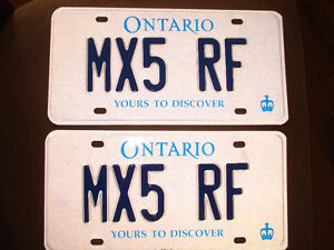MX5 RF Personalized Ontario Plate