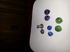 Natural  stone ear clips