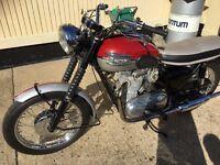 Classic triumph motorbike