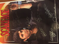 Scarface poster signed by cast with coa 24x36