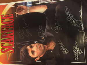 Scarface poster signed by cast with coa 24x36 West Island Greater Montréal image 1
