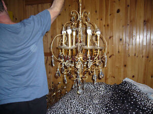4 lustres chandeliers