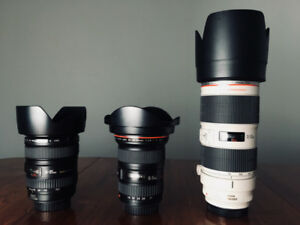Canon EF Lenses and Filters
