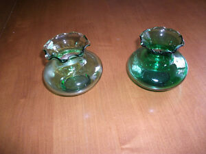DEPRESSION GLASS VASES
