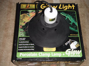 BRAND NEW Exo Terra Glow Light Porcelain Clamp Lamp (Large)