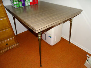 VINTAGE GREY ARBORITE TABLE (No chairs) - REDUCED!