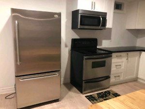 2 bed plus den newly renovated basement apartment for rent