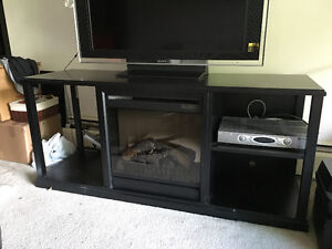 Lazyboy Entertainment center with electric fireplace