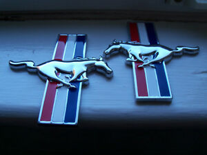 Chrome Running Horse Fender Emblem Set Fits Ford Mustang London Ontario image 1