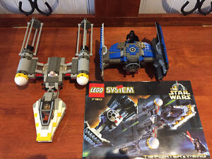 Lego star wars 7150 darth vader tie fighter vs y-wing manque q-