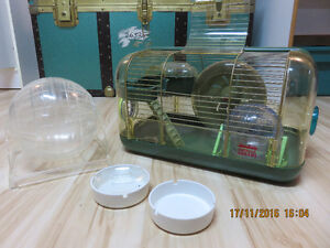 HAMSTER CAGE + BALLS