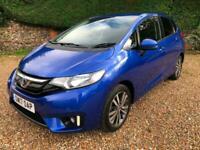 2017 (17) Honda Jazz 1.3 i-VTEC ( 102ps ) (s/s) CVT EX 5 Door Blue 42500 Miles