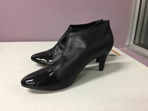 Women's Black Kitten Heal Ankle Booties