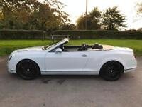 BENTLEY CONTINENTAL GTC SUPERSPORT CONVERTIBLE 6.0 W12 TWIN TURBO WHITE SUPERCAR