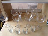 Glasses Drinking x 16 Wine Short Tumbler Champagne Shot Martini Glassware