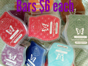 Scentsy bars $6 each