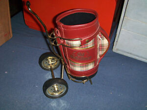 OLD ST. ANDREWS SCOTCH WHISKEY LEATHER GOLF CART FOR BOTTLE!