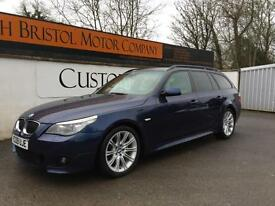 2009 09 BMW 535d 3.0 TD AUTO M SPORT TOURING ONLY 2 OWNERS 114K FBMWSH BLUE