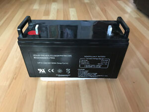 Battery for solar panel or boat
