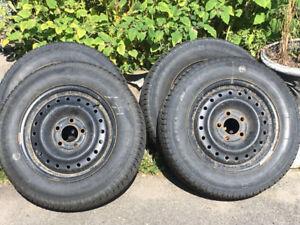 P195/65R15 winter tires on rims for Honda Civic 06-11