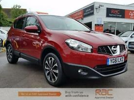 NISSAN QASHQAI N-TEC DCI 4WD 2011 Diesel Manual in Red
