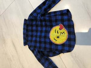 Used So Nikki Emoji flannel shirt. Size small